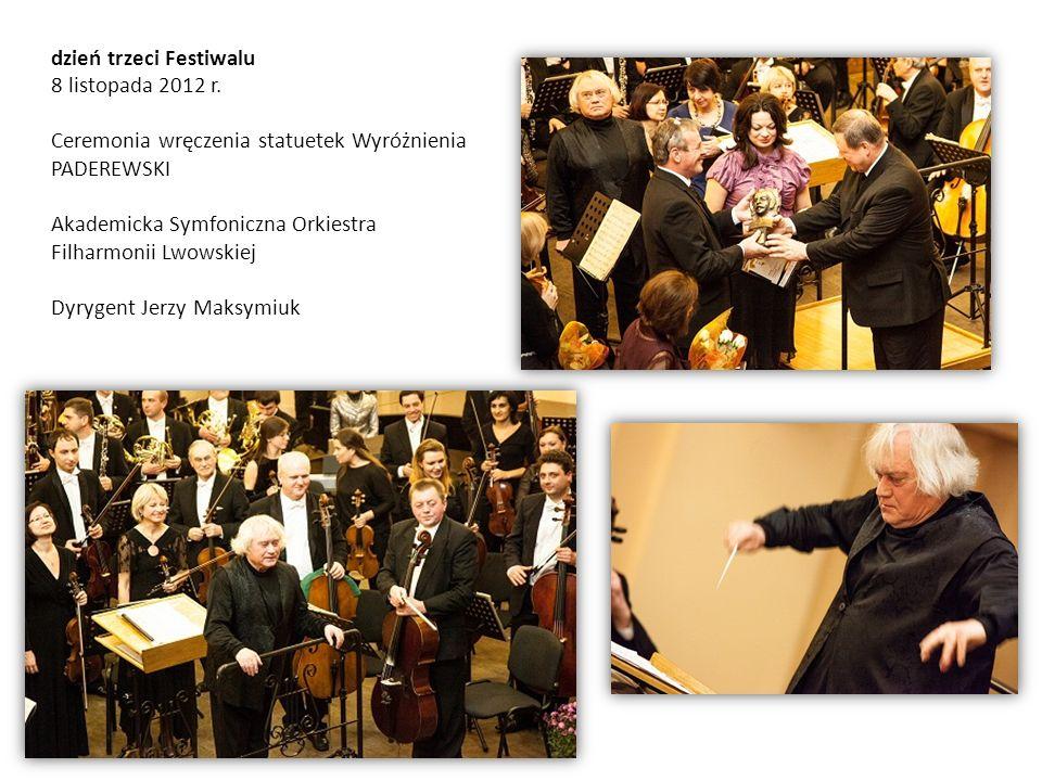 dzień trzeci Festiwalu 8 listopada 2012 r