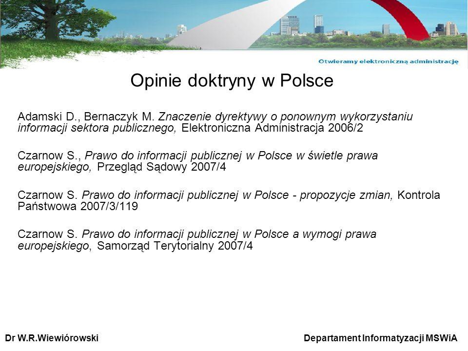 Opinie doktryny w Polsce
