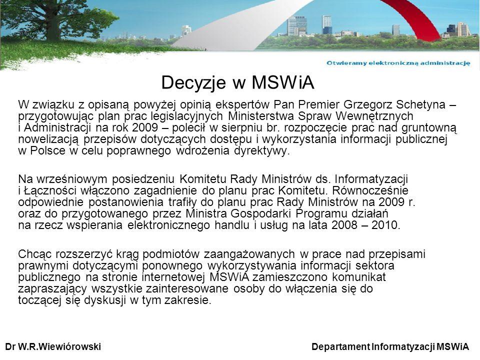 Decyzje w MSWiA