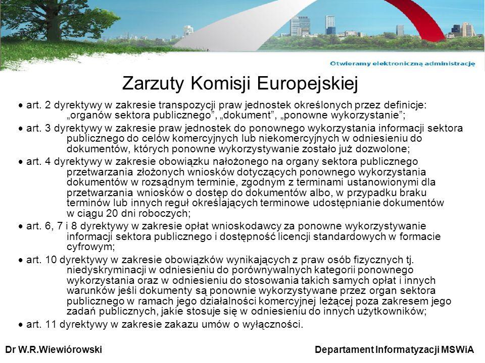 Zarzuty Komisji Europejskiej