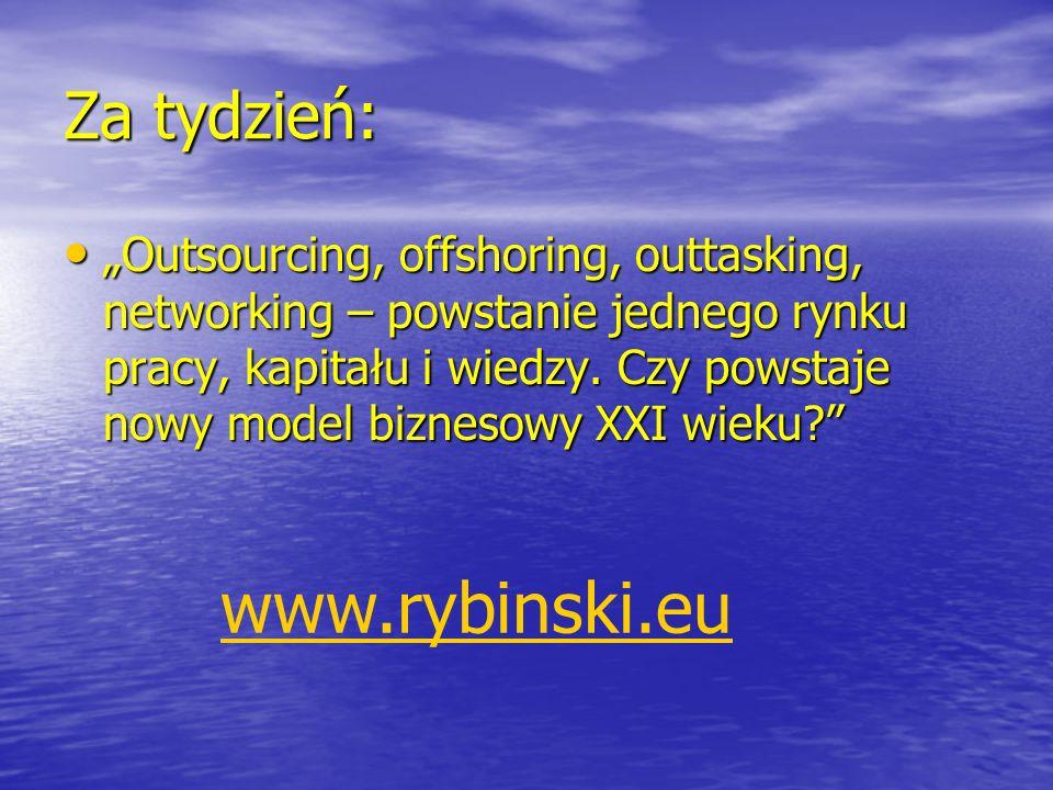 www.rybinski.eu Za tydzień: