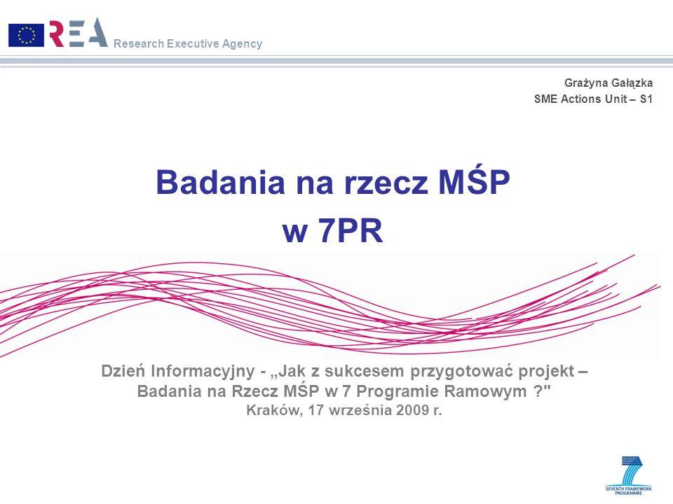 Badania na rzecz MŚP w 7PR