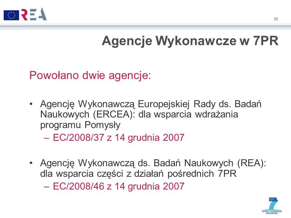 Agencje Wykonawcze w 7PR