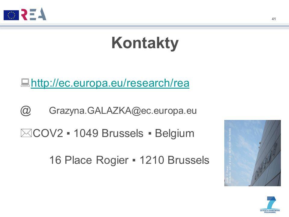 Kontakty http://ec.europa.eu/research/rea