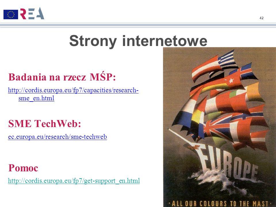 Strony internetowe Badania na rzecz MŚP: SME TechWeb: Pomoc