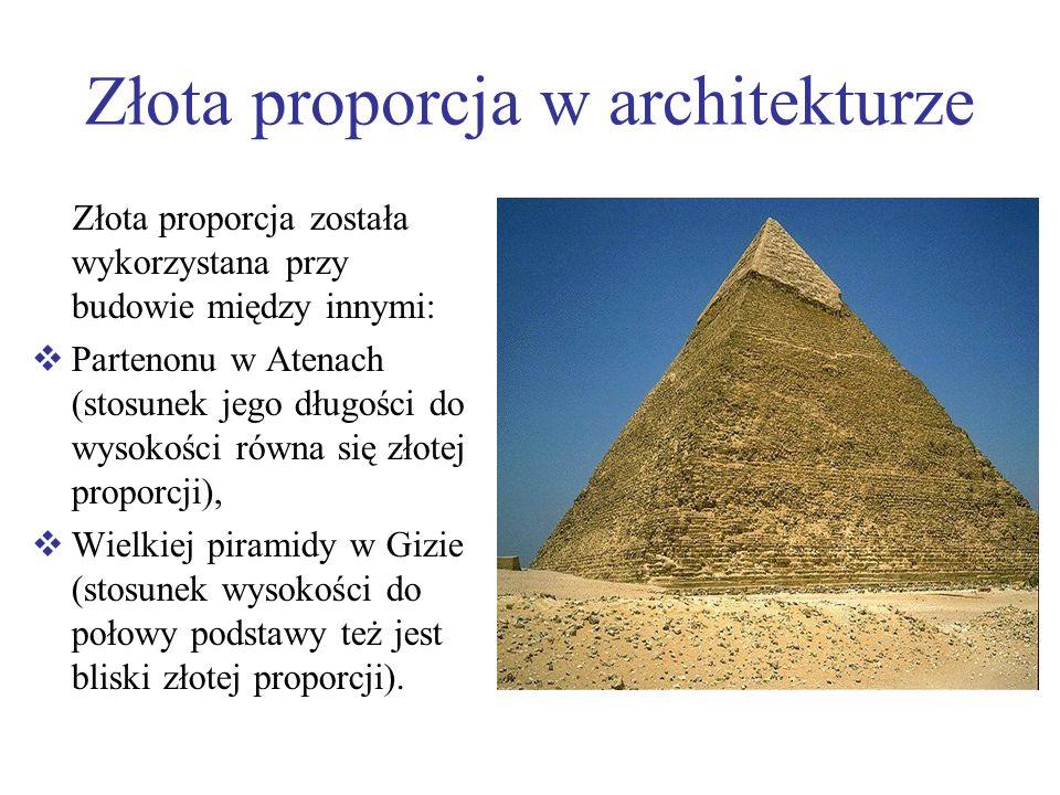 Złota proporcja w architekturze