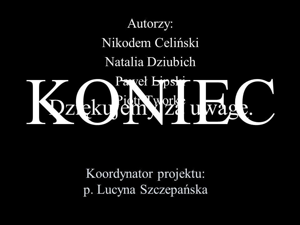 Koordynator projektu: p. Lucyna Szczepańska