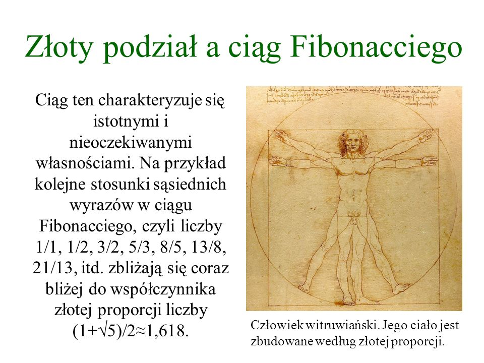 Złoty podział a ciąg Fibonacciego