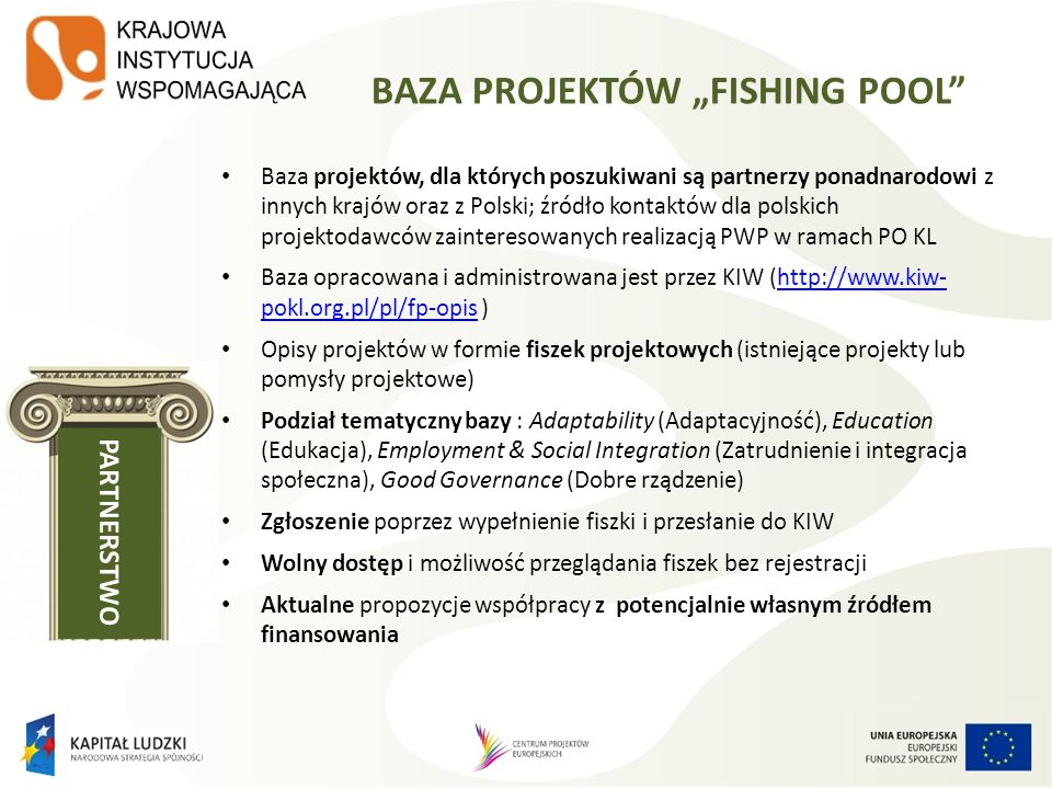 "BAZA PROJEKTÓW ""FISHING POOL"