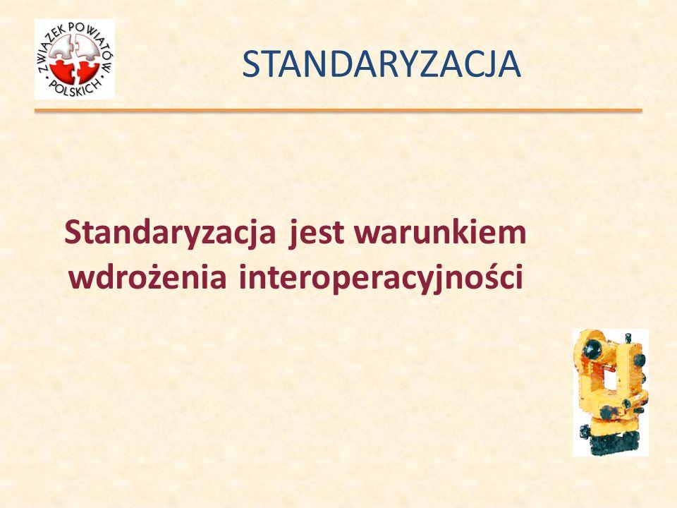 Standaryzacja jest warunkiem wdrożenia interoperacyjności