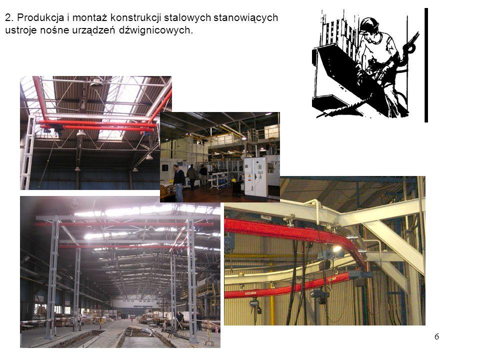 2. Produkcja i montaż konstrukcji stalowych stanowiących