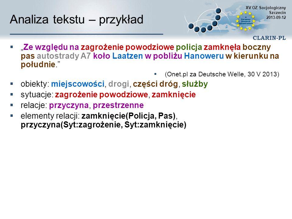Analiza tekstu – przykład
