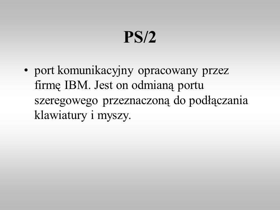 PS/2 port komunikacyjny opracowany przez firmę IBM.