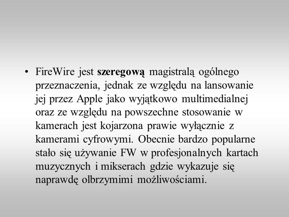 FireWire jest szeregową magistralą ogólnego przeznaczenia, jednak ze względu na lansowanie jej przez Apple jako wyjątkowo multimedialnej oraz ze względu na powszechne stosowanie w kamerach jest kojarzona prawie wyłącznie z kamerami cyfrowymi.