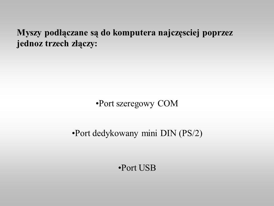 Port dedykowany mini DIN (PS/2)
