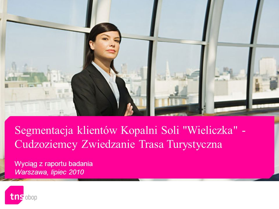 Segmentacja klientów Kopalni Soli Wieliczka - Cudzoziemcy Zwiedzanie Trasa Turystyczna