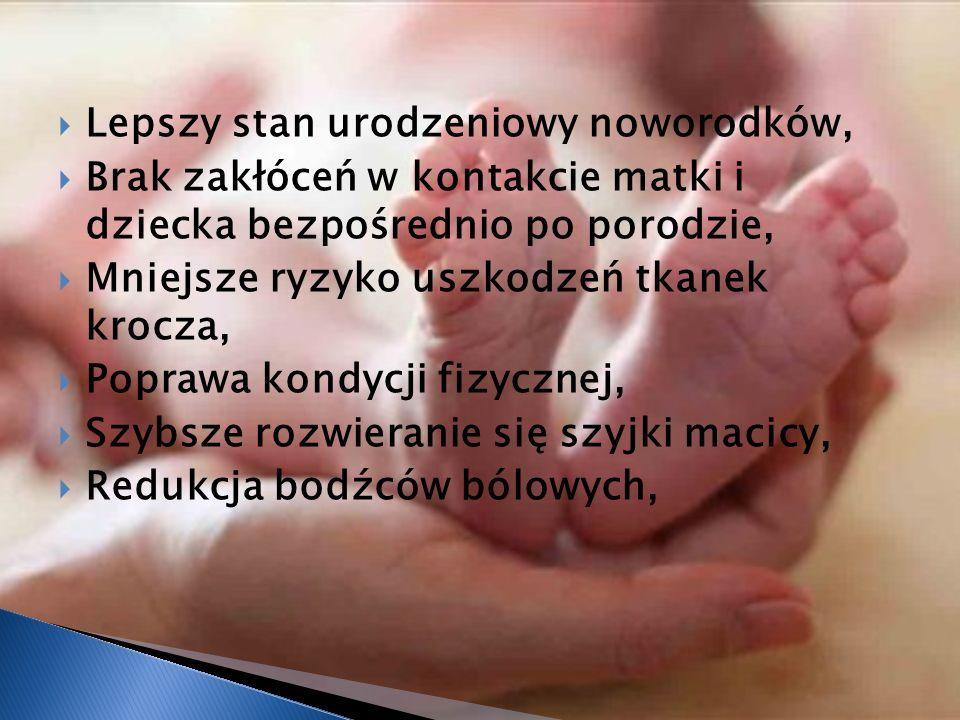 Lepszy stan urodzeniowy noworodków,