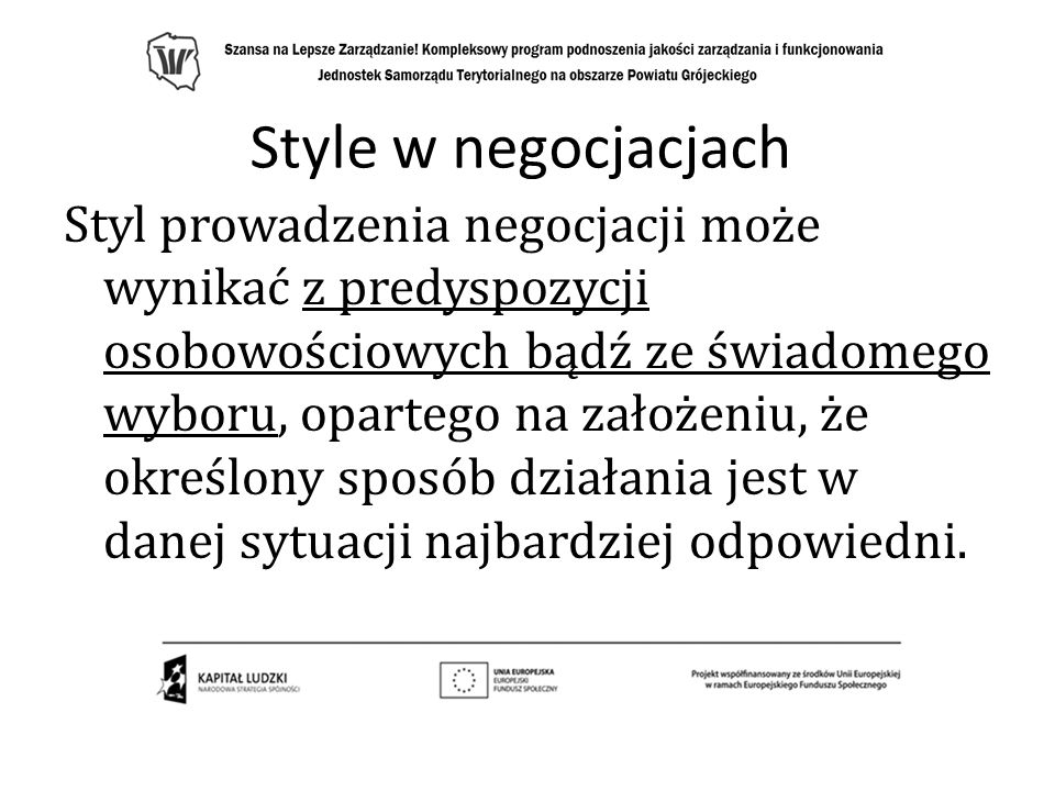 Style w negocjacjach