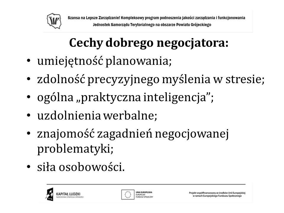 Cechy dobrego negocjatora: