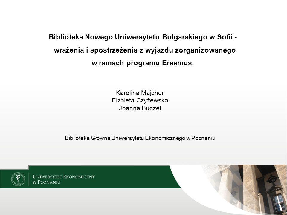 Biblioteka Główna Uniwersytetu Ekonomicznego w Poznaniu