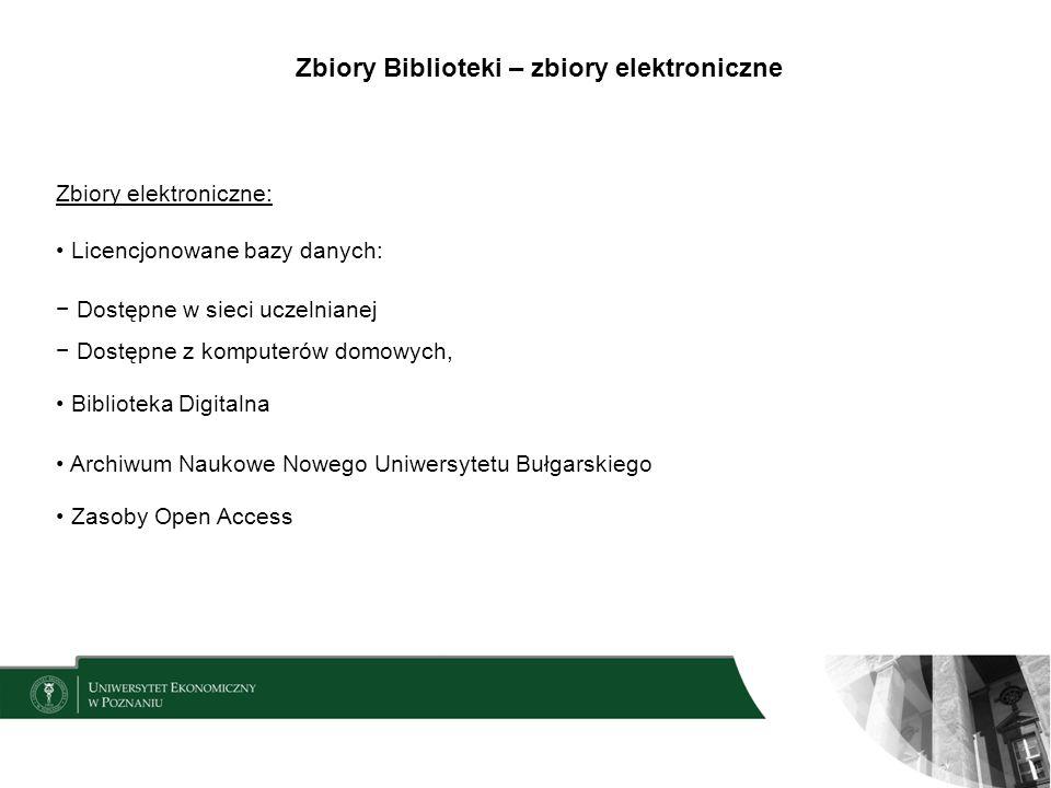 Zbiory Biblioteki – zbiory elektroniczne