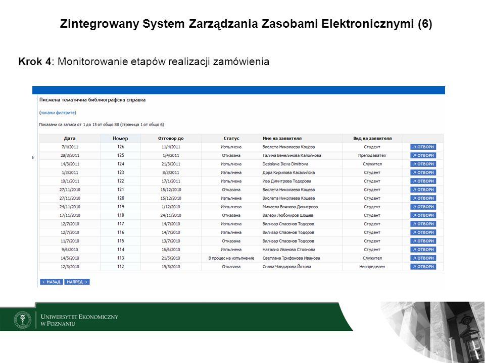 Zintegrowany System Zarządzania Zasobami Elektronicznymi (6)