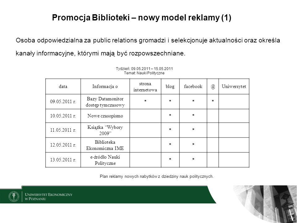 Promocja Biblioteki – nowy model reklamy (1)