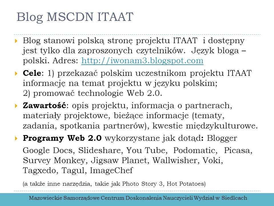 Blog MSCDN ITAAT