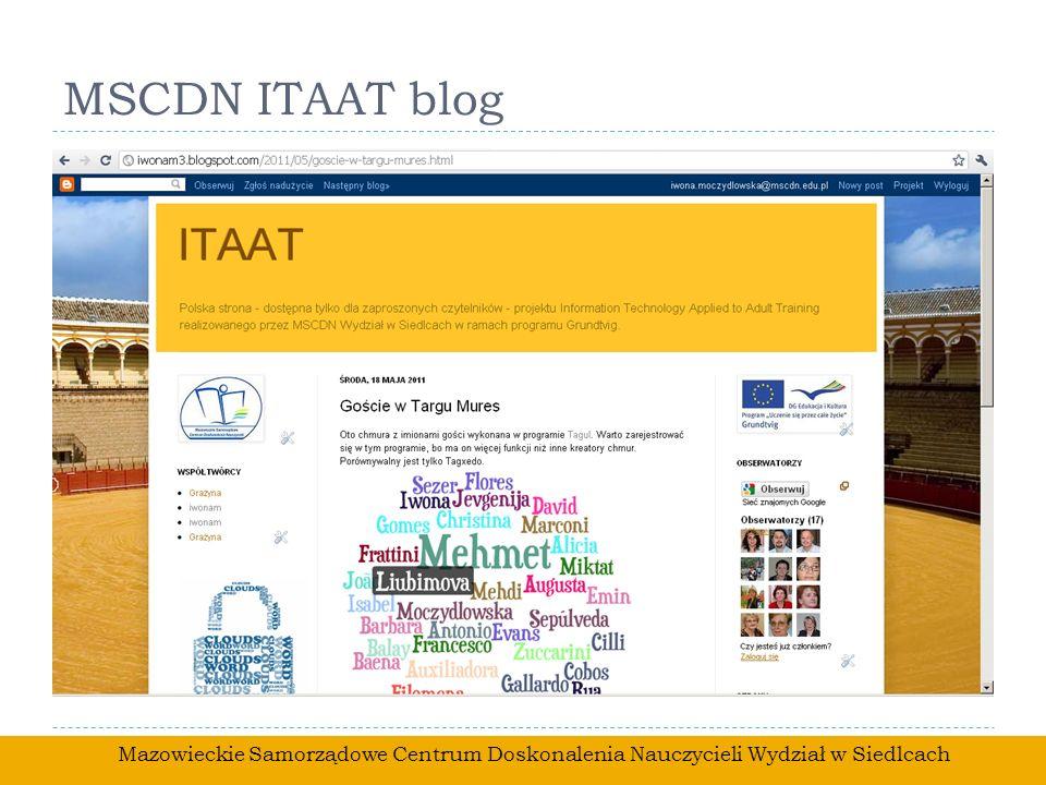 MSCDN ITAAT blog Mazowieckie Samorządowe Centrum Doskonalenia Nauczycieli Wydział w Siedlcach
