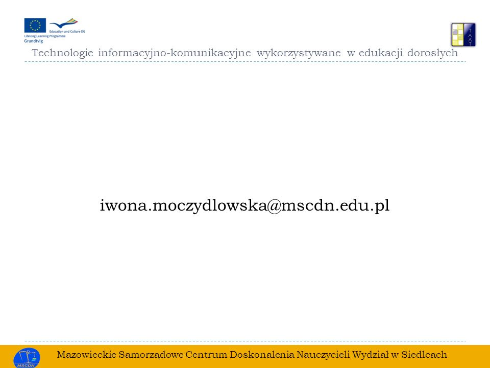 Technologie informacyjno-komunikacyjne wykorzystywane w edukacji dorosłych