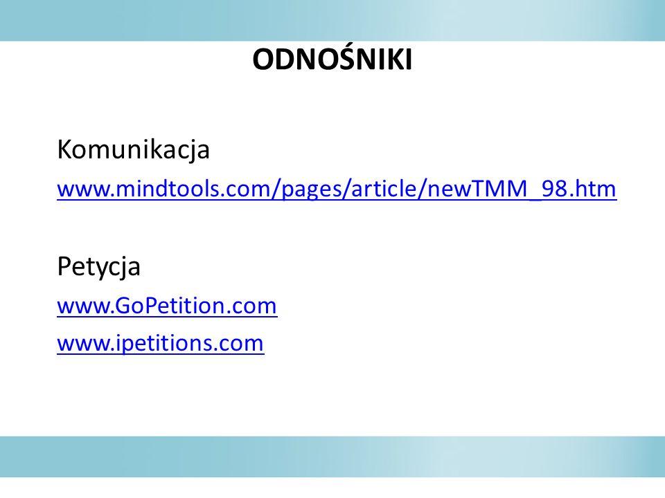 ODNOŚNIKI Komunikacja Petycja