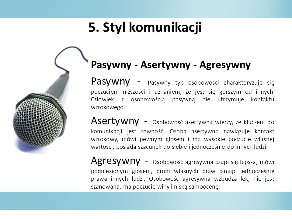5. Styl komunikacji