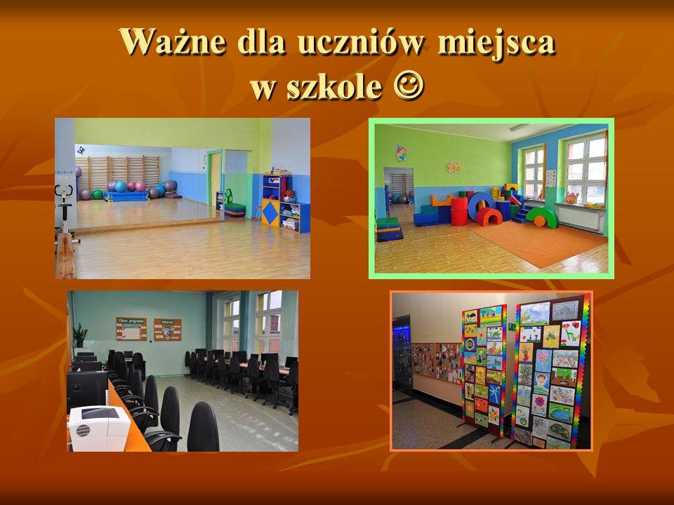 Ważne dla uczniów miejsca w szkole 