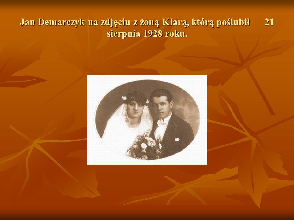 Jan Demarczyk na zdjęciu z żoną Klarą, którą poślubił 21 sierpnia 1928 roku.