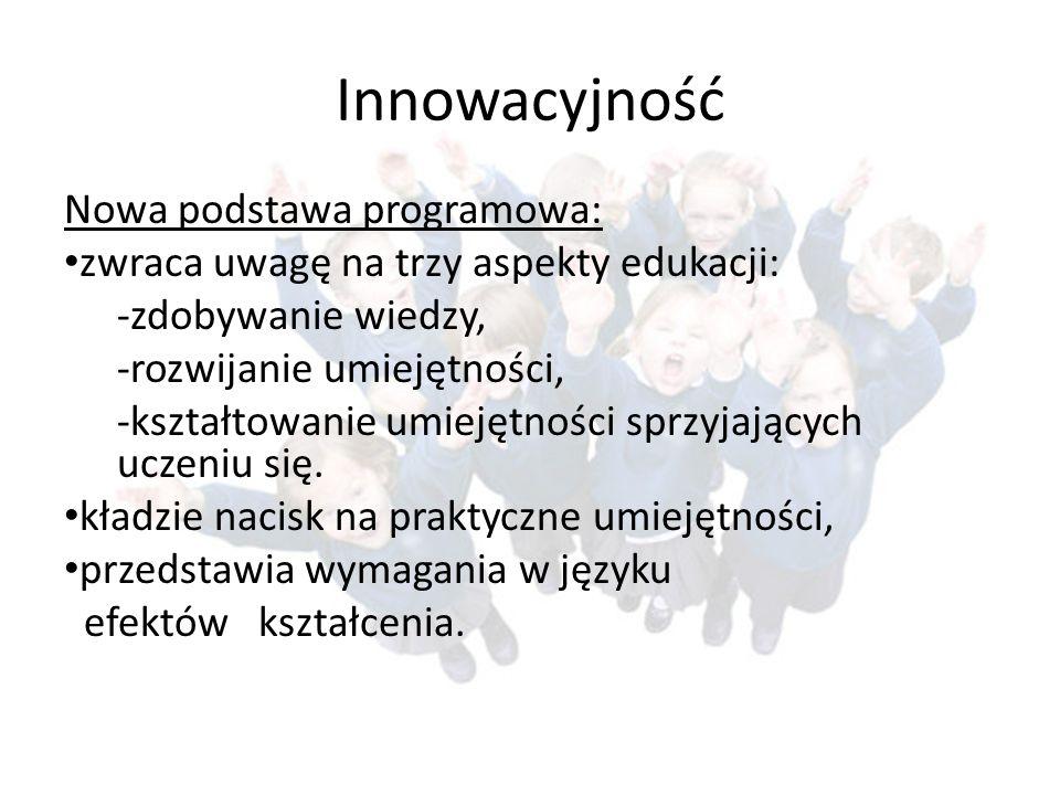 Innowacyjność Nowa podstawa programowa: