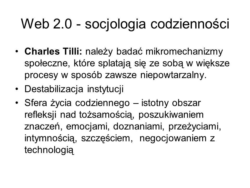 Web 2.0 - socjologia codzienności