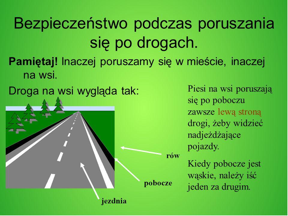 Bezpieczeństwo podczas poruszania się po drogach.