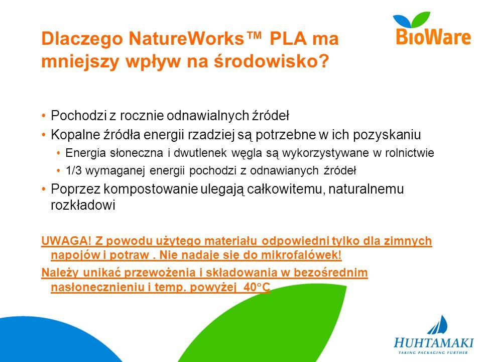 Dlaczego NatureWorks™ PLA ma mniejszy wpływ na środowisko