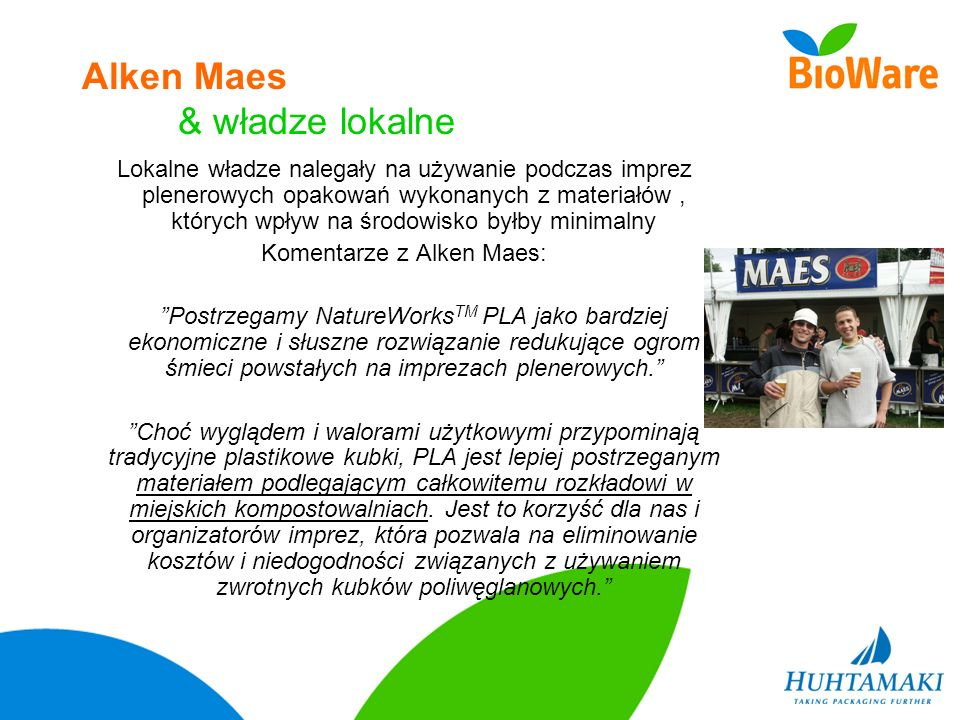 Alken Maes & władze lokalne