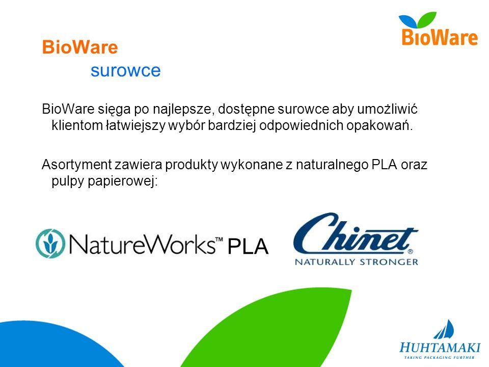 BioWare surowce BioWare sięga po najlepsze, dostępne surowce aby umożliwić klientom łatwiejszy wybór bardziej odpowiednich opakowań.