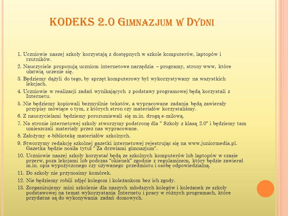 KODEKS 2.0 Gimnazjum w Dydni
