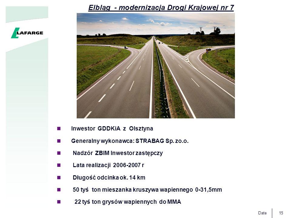 Elbląg - modernizacja Drogi Krajowej nr 7