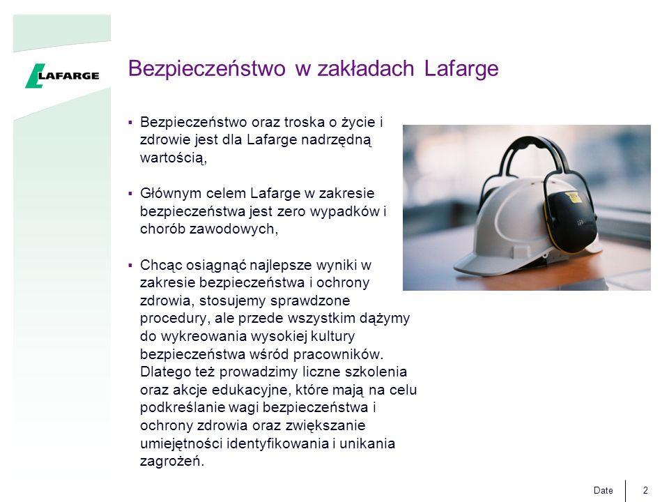 Bezpieczeństwo w zakładach Lafarge