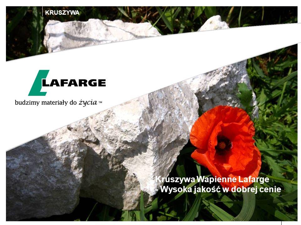 Kruszywa Wapienne Lafarge - Wysoka jakość w dobrej cenie