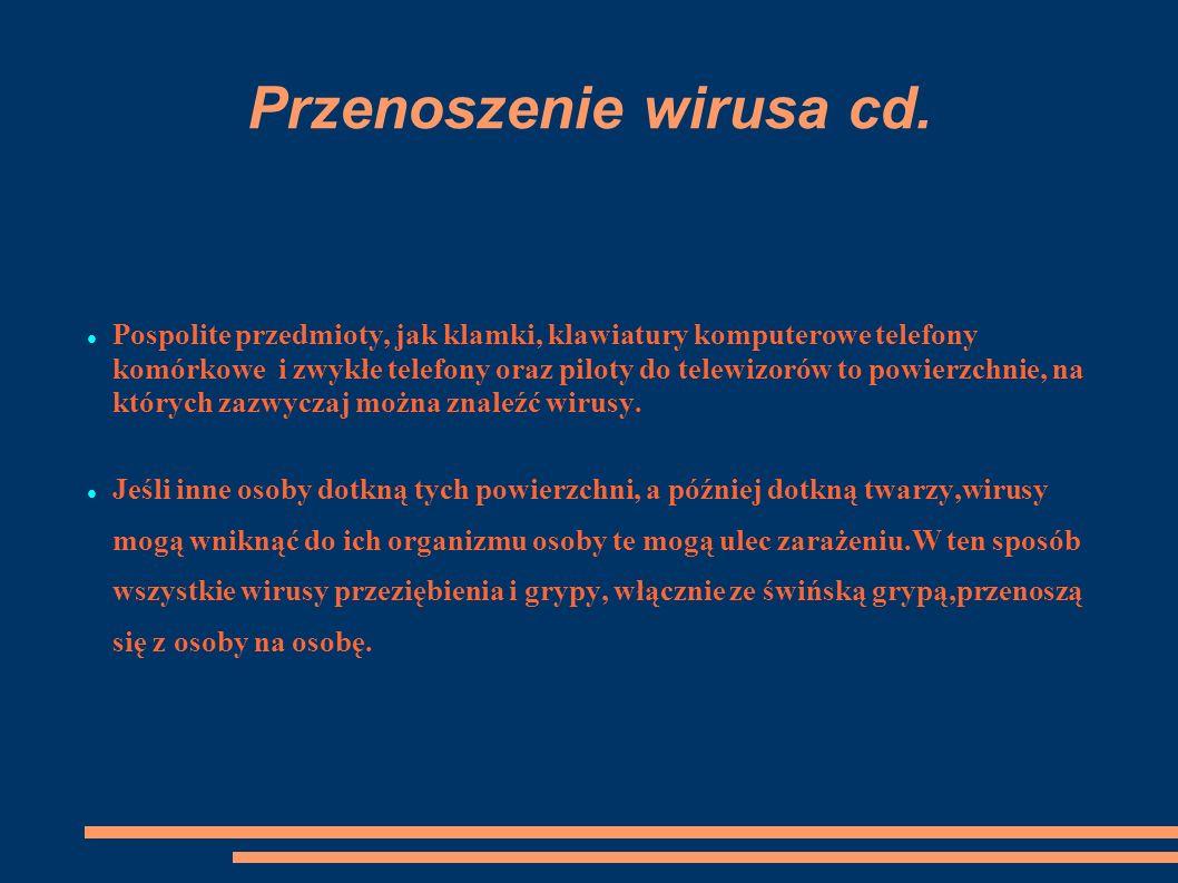 Przenoszenie wirusa cd.