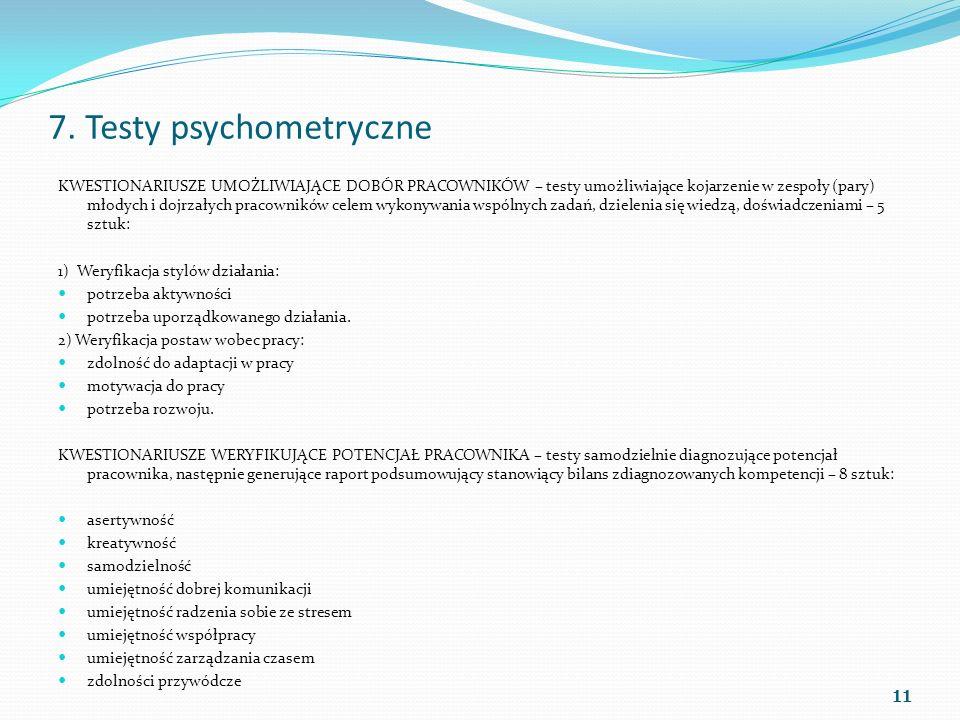 7. Testy psychometryczne