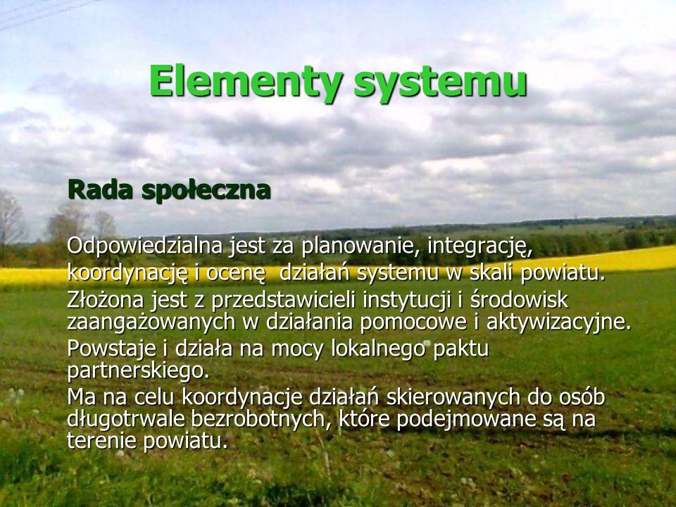 Elementy systemu Rada społeczna