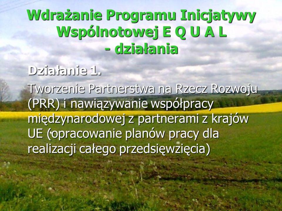 Wdrażanie Programu Inicjatywy Wspólnotowej E Q U A L - działania