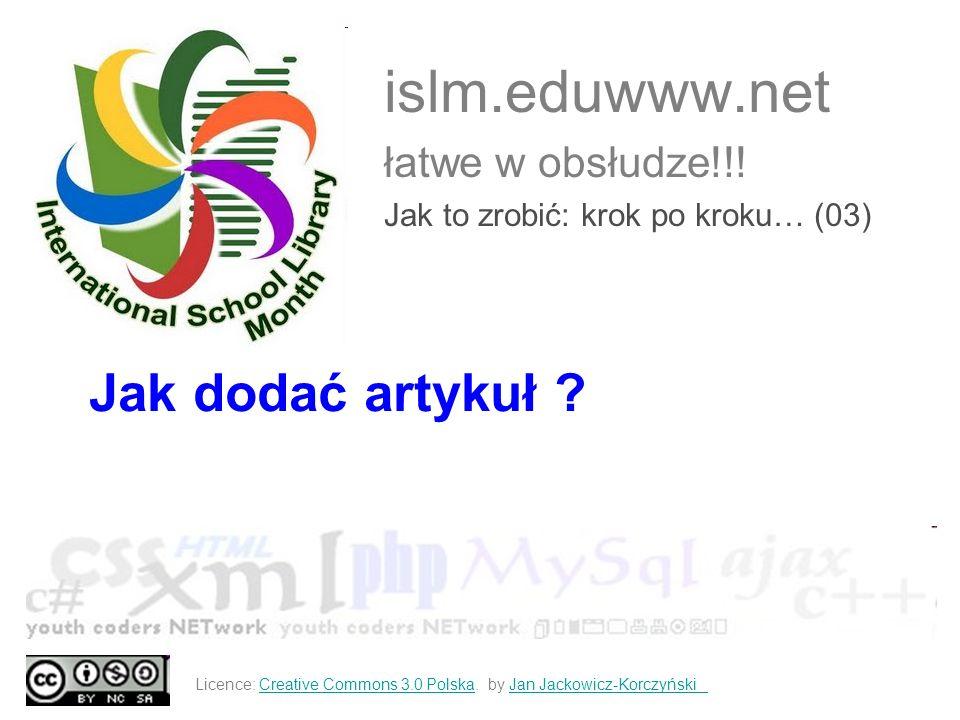 islm.eduwww.net łatwe w obsłudze!!! Jak to zrobić: krok po kroku… (03)