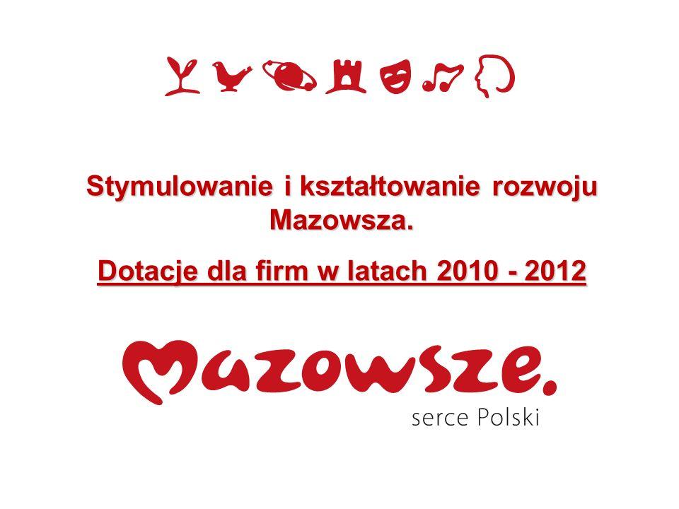 Stymulowanie i kształtowanie rozwoju Mazowsza.